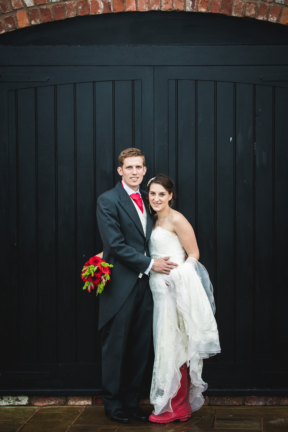 Quirky red wedding at Curradine Barns © Olivia Photography - Red Wellies