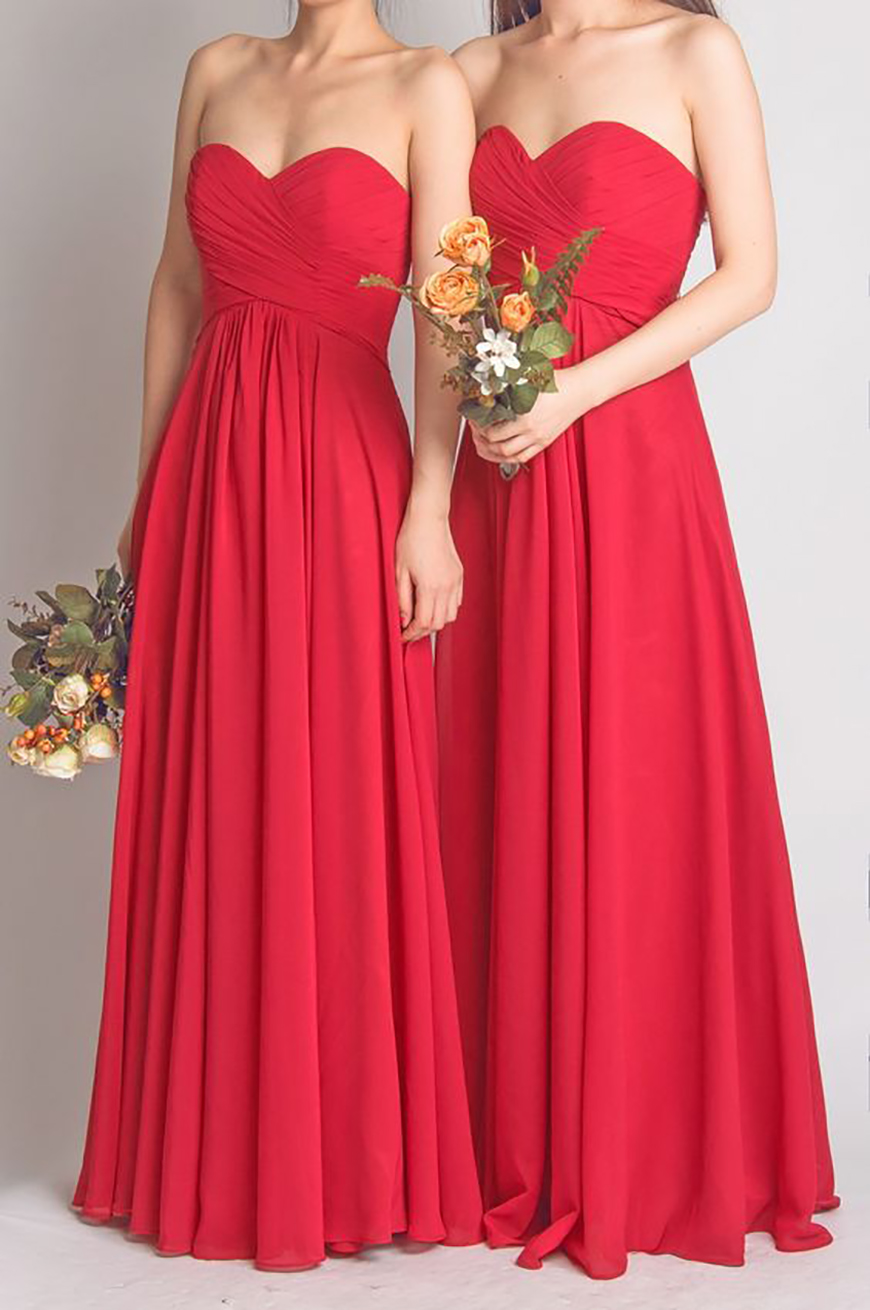Wedding Ideas by Colour: Red Bridesmaid Dresses | CHWV