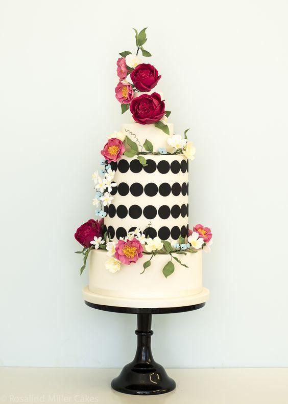 Wedding Ideas by Colour: Red Wedding Cakes | CHWV