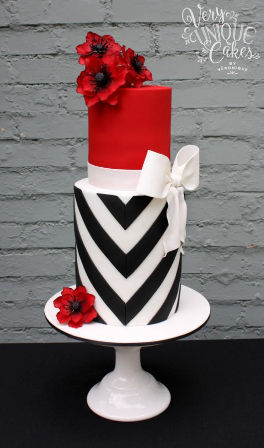 Red Colour Cake Images : Wedding Ideas by Colour: Red Wedding Cakes CHWV