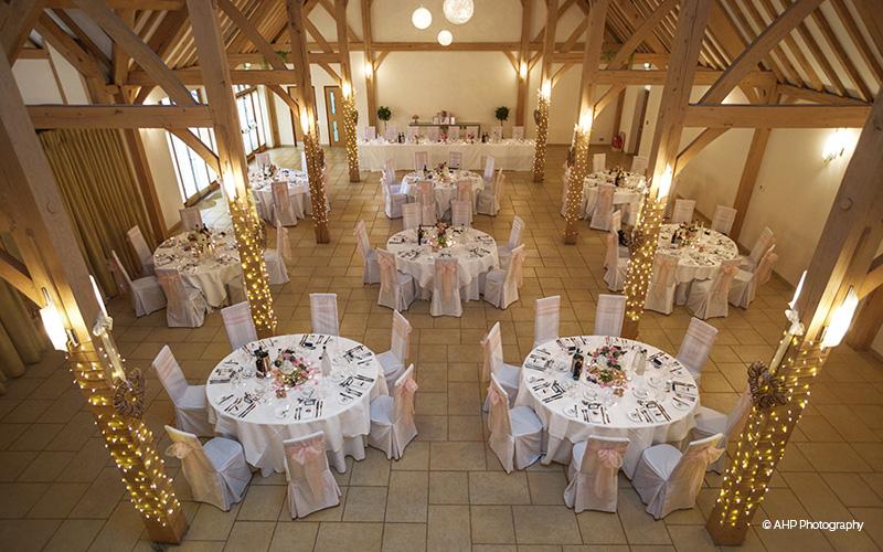 Rivervale Barn wedding venue in hampshire pink wedding theme - cheshire wedding venues barn