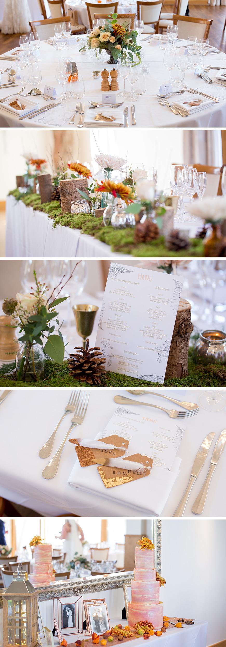 Real Wedding - Rochelle and Joshua's Bohemian Autumn Wedding at Mythe Barn | CHWV