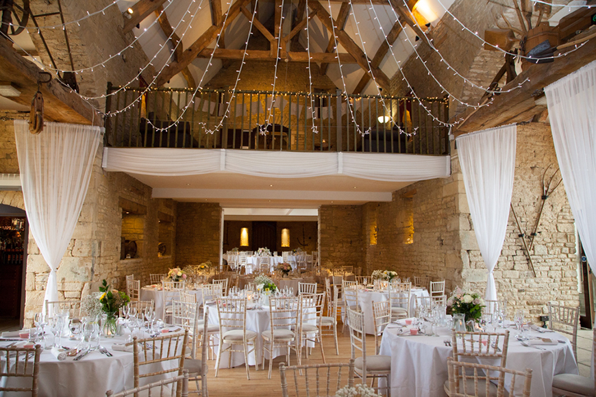 34 Romantic Wedding Venues That You'll Fall In Love With - The Great Tythe Barn | CHWV
