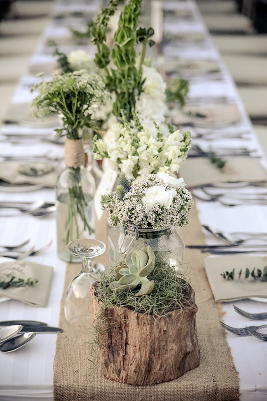 Wedding Ideas By Colour: Sage Green Wedding Theme - Venue Decor | CHWV