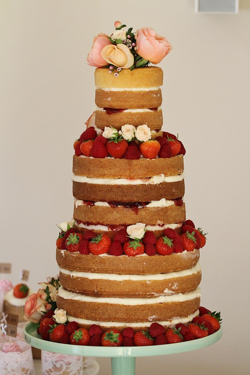 Real Wedding - Sara and Robert's Rustic DIY Wedding Day at Bassmead Manor - The Cake   CHWV