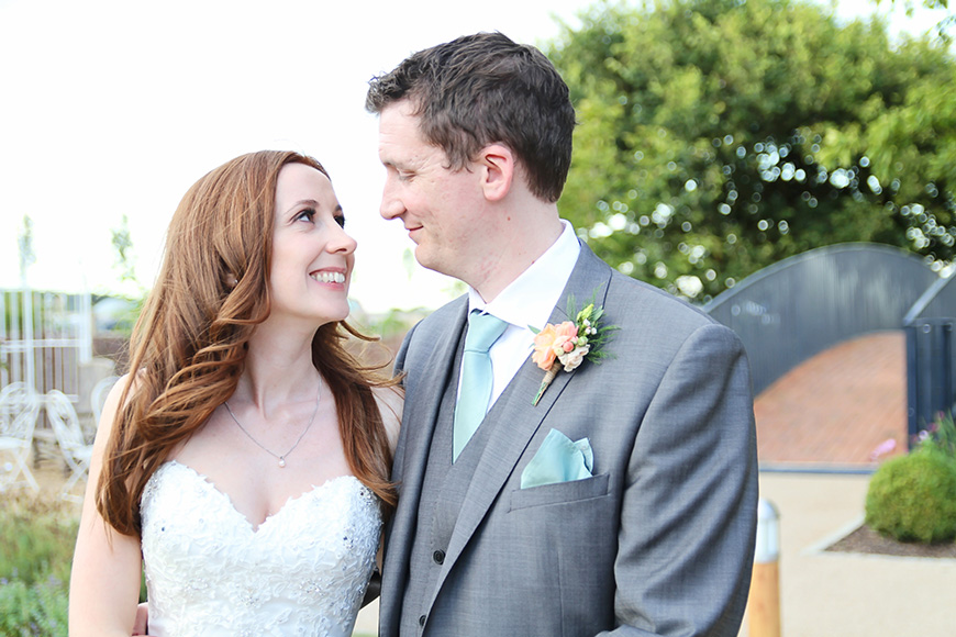 Real Wedding - Sara and Robert's Rustic DIY Wedding Day at Bassmead Manor - The happy couple   CHWV