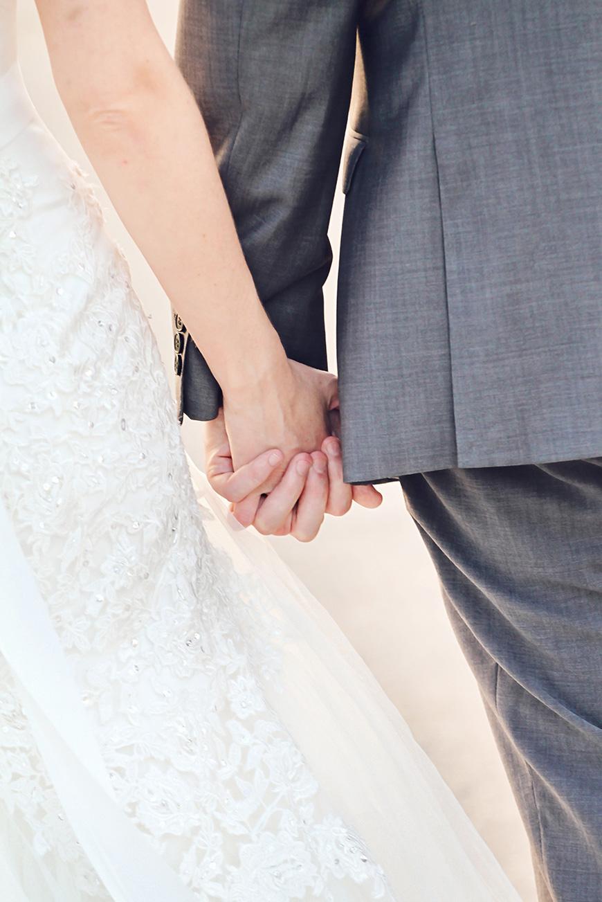 Real Wedding - Sara and Robert's Rustic DIY Wedding Day at Bassmead Manor - Hand in hand   CHWV