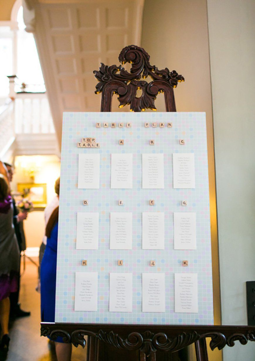 30 Amazing Wedding Table Name Ideas - Spell it out | CHWV