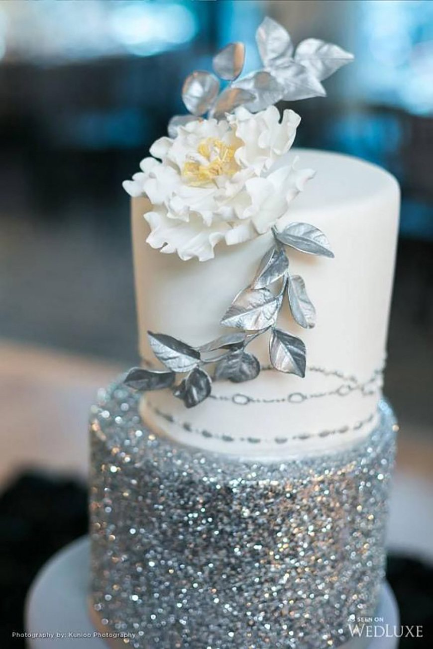 blue and silver wedding cake ideas silver wedding cake decorations wedding ideas by colour 11960
