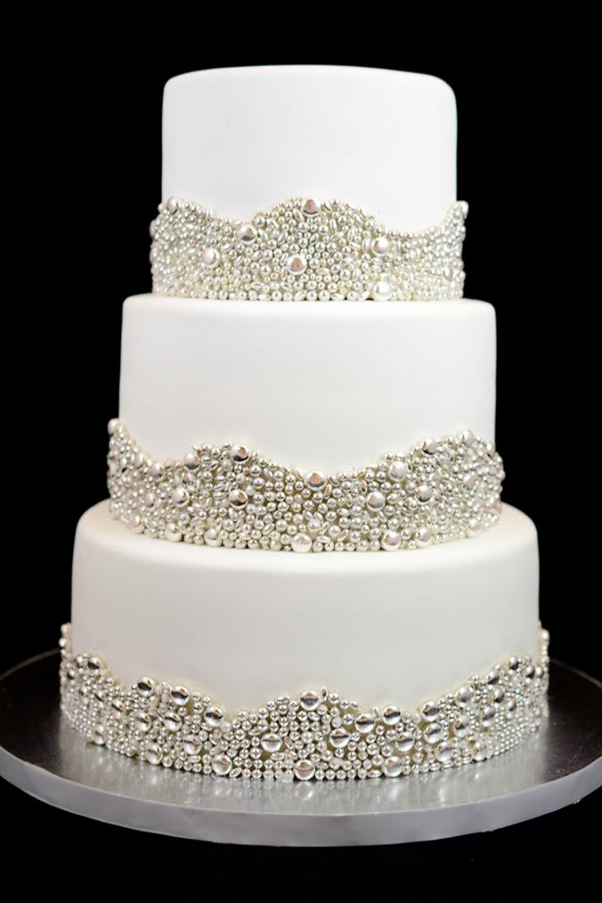Silver Wedding Cake Decorations Wedding Ideas By Colour ...