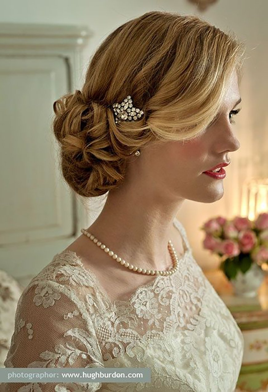 Wedding Hair – Simple and Stylish Updos - Side bun | CHWV