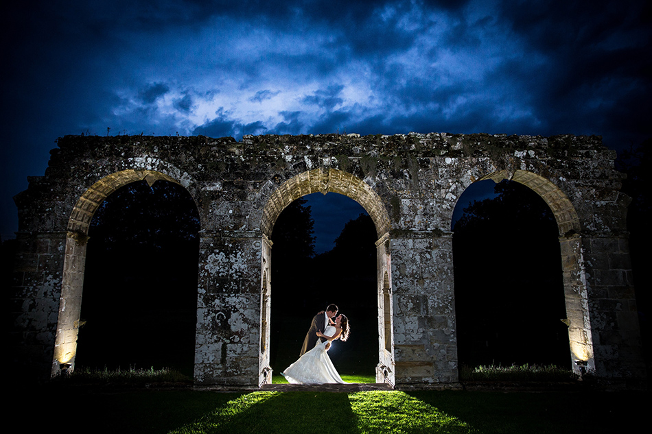 Say I do to Slaugham Place - Ruins at night | CHWV