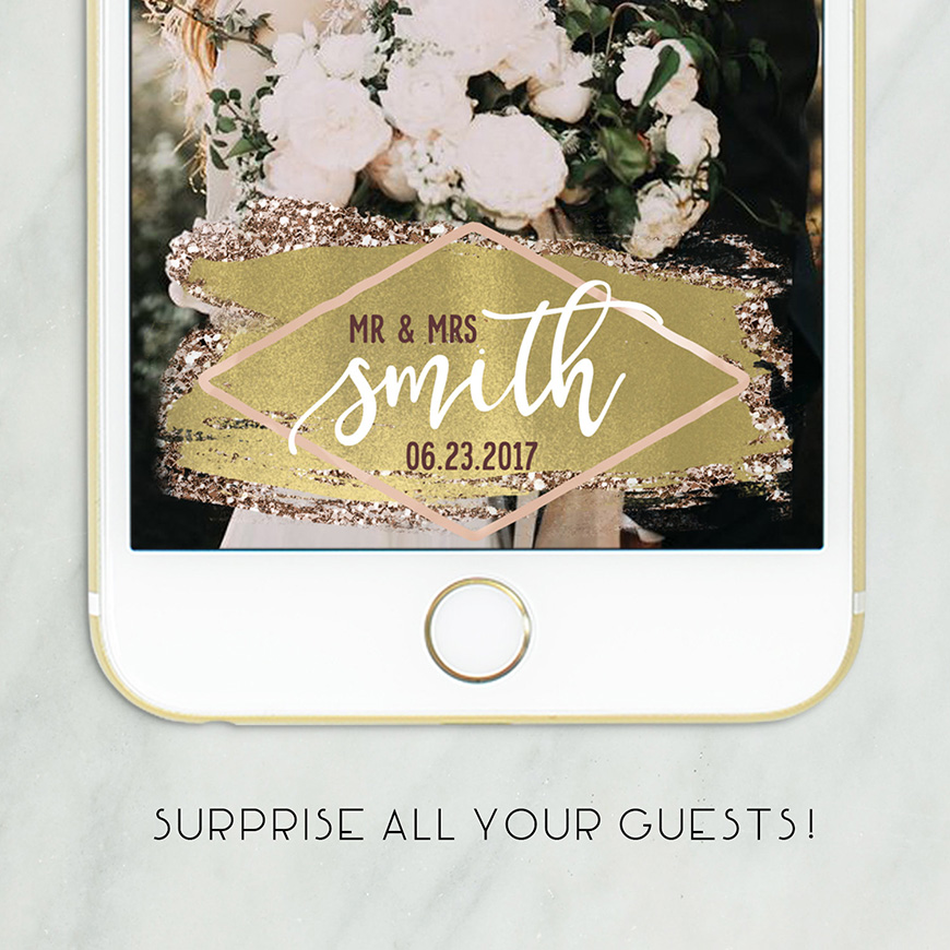 Have Your Own Snapchat Geofilters For Your Wedding Day | CHWV