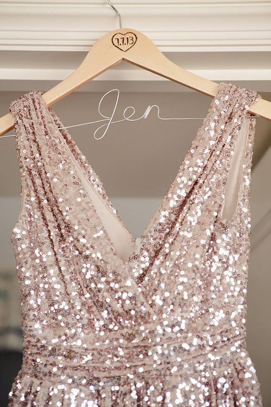 Metallic Bridesmaid Dresses Wedding Ideas Chwv