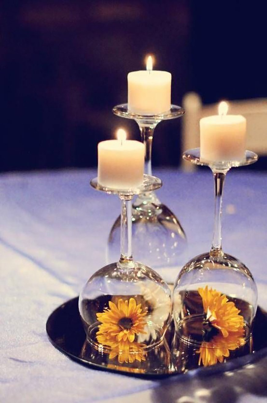 How to Create those Stunning Handmade Wedding Table Decorations - Time to reflect | CHWV