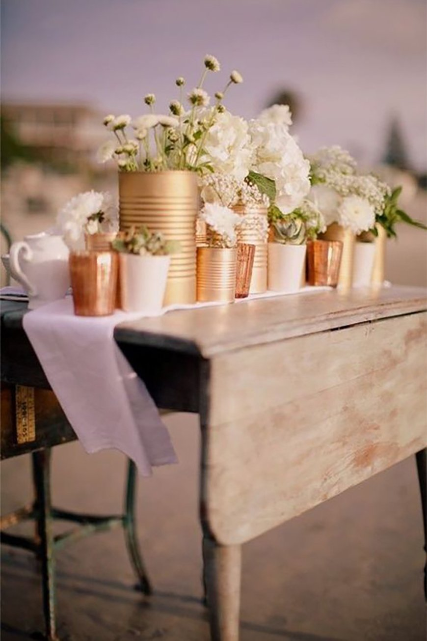 How to Create those Stunning Handmade Wedding Table Decorations - Embrace your inner metal fan | CHWV