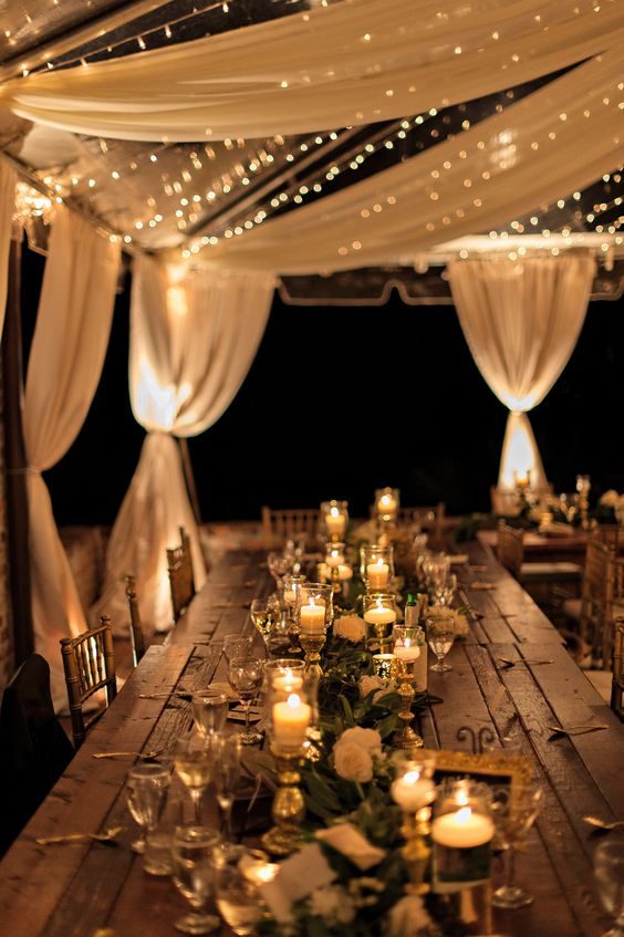 wedding tent lighting ideas. Styling Your Venue: Stunning Wedding Lighting Ideas - Candles | CHWV Tent