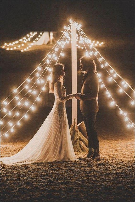 rustic wedding lighting ideas. Styling Your Venue: Stunning Wedding Lighting Ideas | CHWV Rustic
