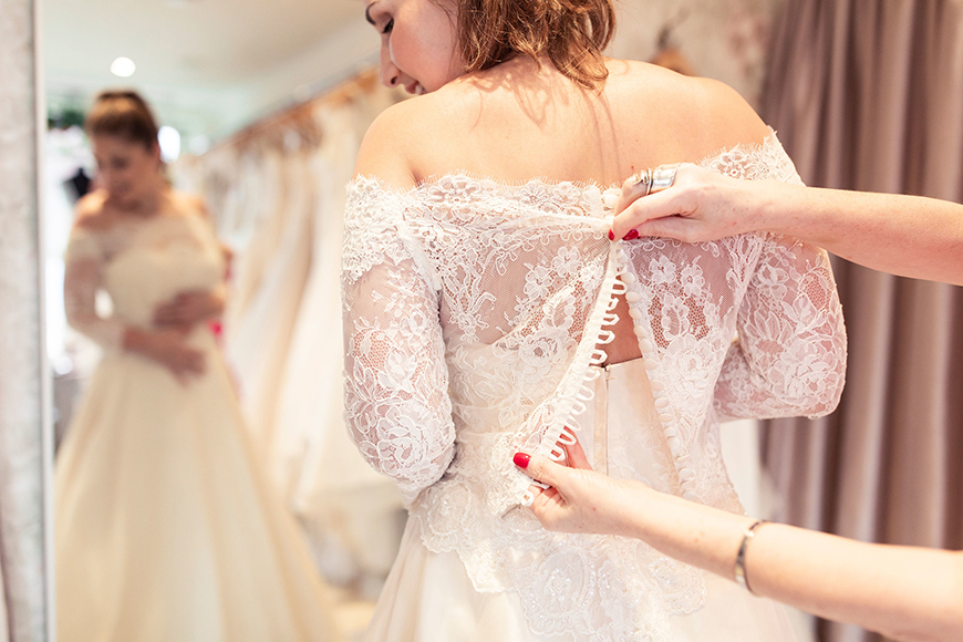 Everything You Need To Know About Your Wedding Dress Fitting - Terry Fox Bridal | CHWV