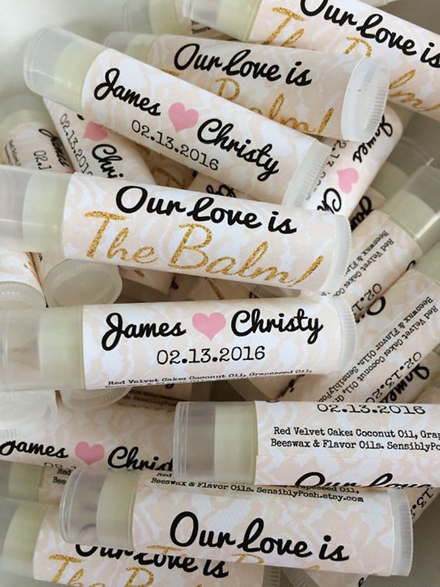 The Best Modern Wedding Favours For Every Style - Lip balm | CHWV