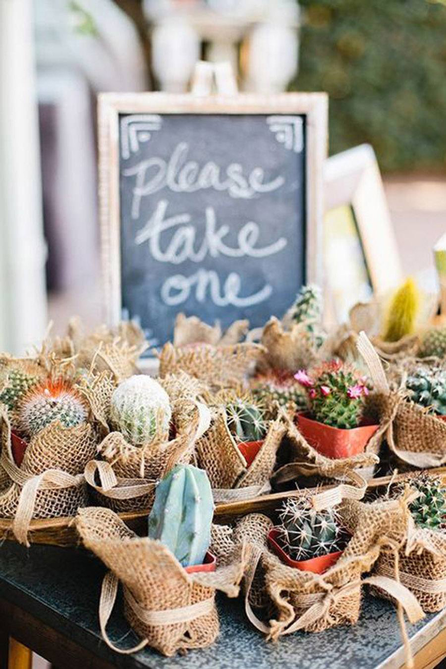 The Best Modern Wedding Favours For Every Style - Cactuses | CHWV