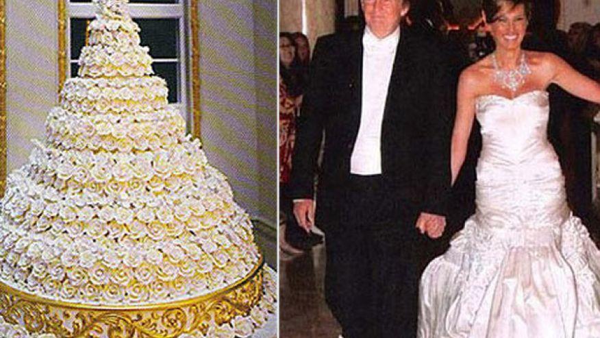 9 Extravagant Celebrity Wedding Cakes