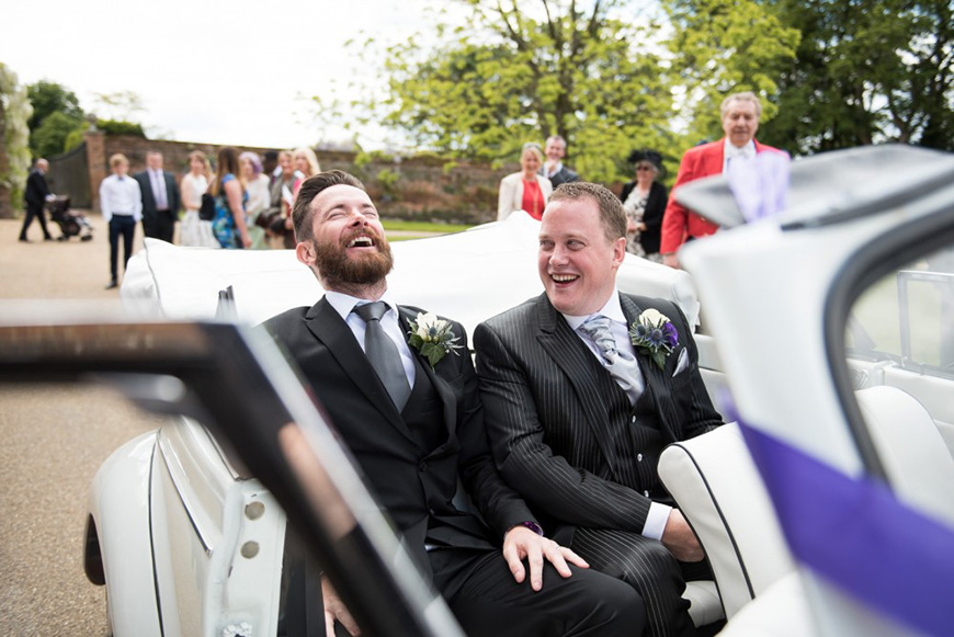 18 Things Your Groom is Definitely Doing While You're Getting Ready - Having a laugh | CHWV