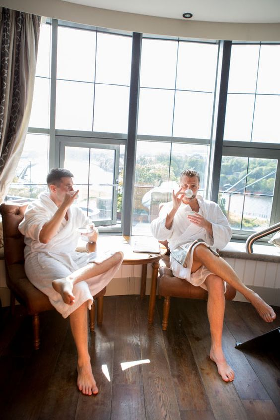 18 Things Your Groom is Definitely Doing While You're Getting Ready - Cup of tea | CHWV