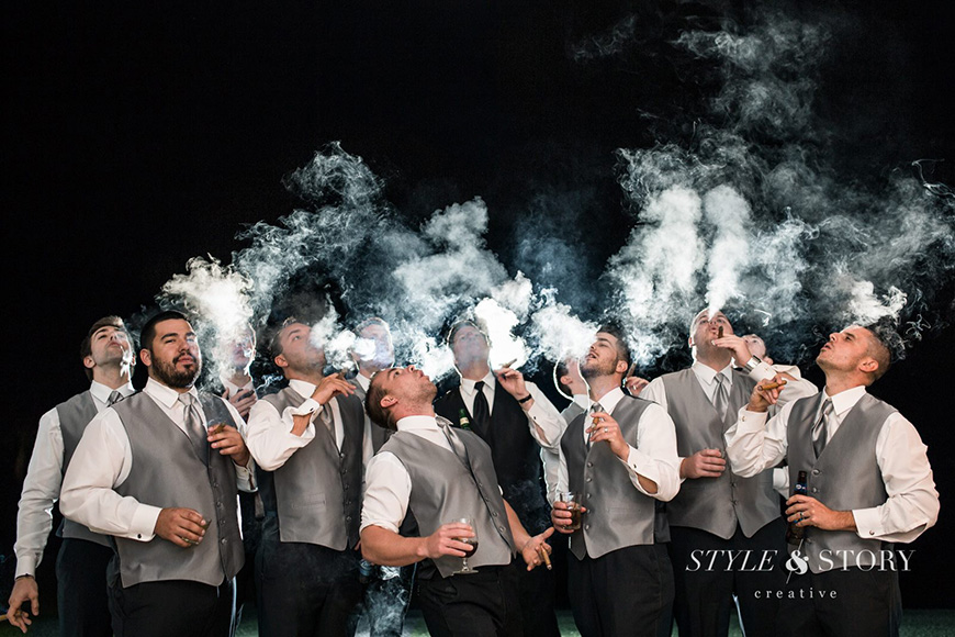 18 Things Your Groom is Definitely Doing While You're Getting Ready - Cigar | CHWV