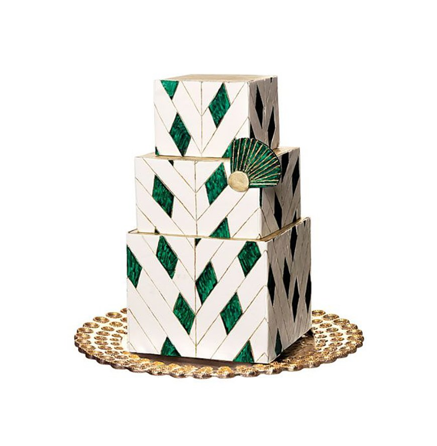 Art Deco Inspired Wedding Cake : Art Deco Wedding Cakes CHWV
