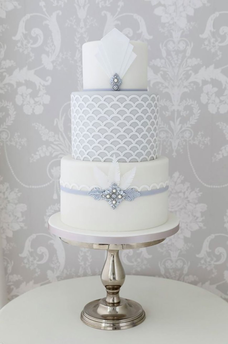 Art Deco Wedding Cakes CHWV