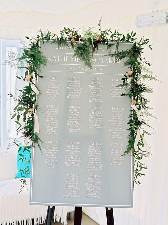 Wedding Ideas by Colour: Blue Table Plans