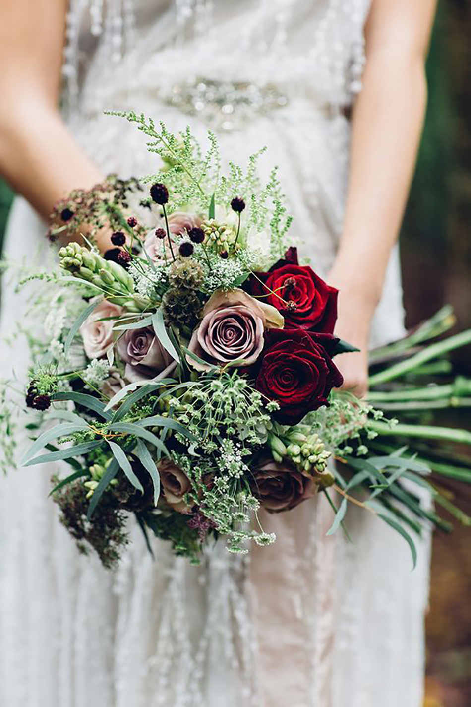 Wedding ideas by colour: red wedding accessories