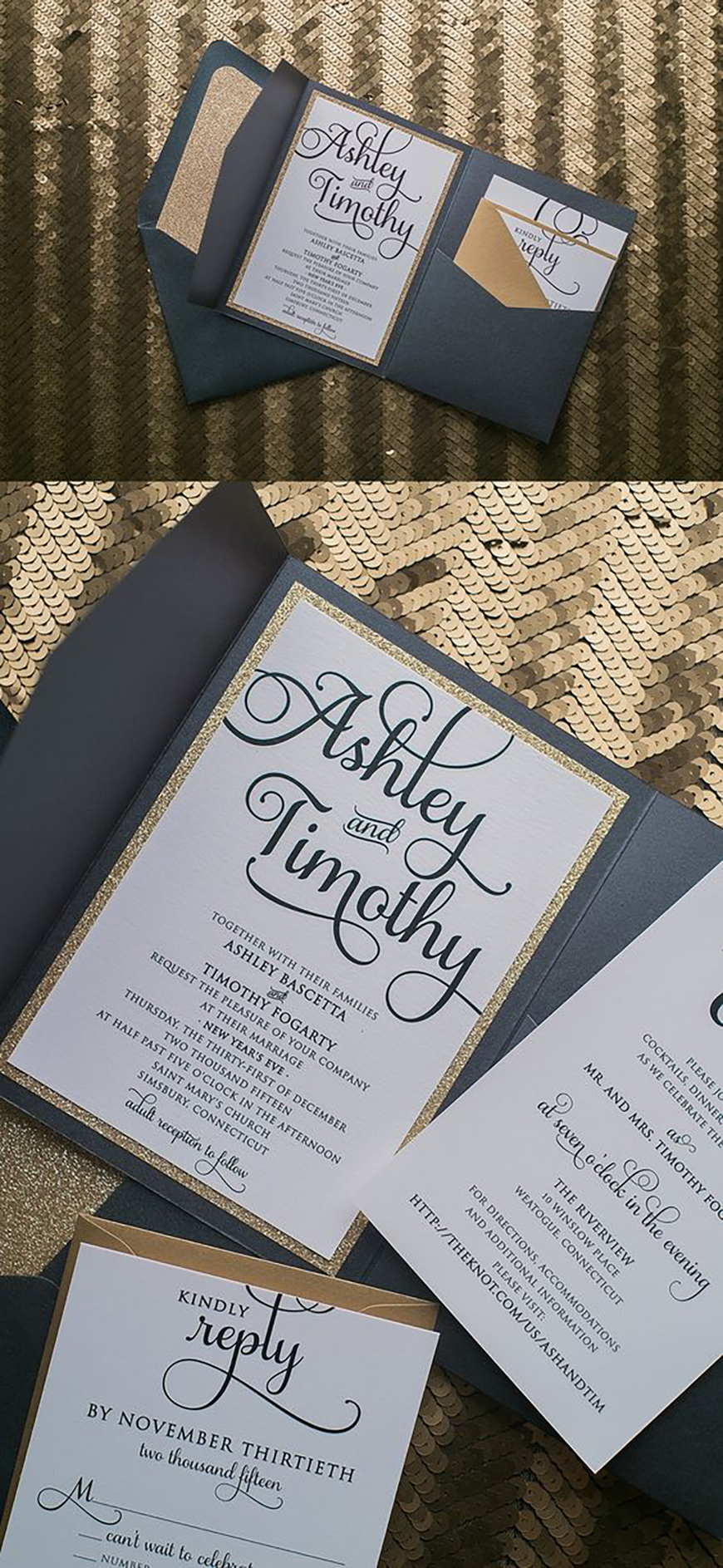Evening Wedding Invitations | Wedding Invitation Wording | CHWV