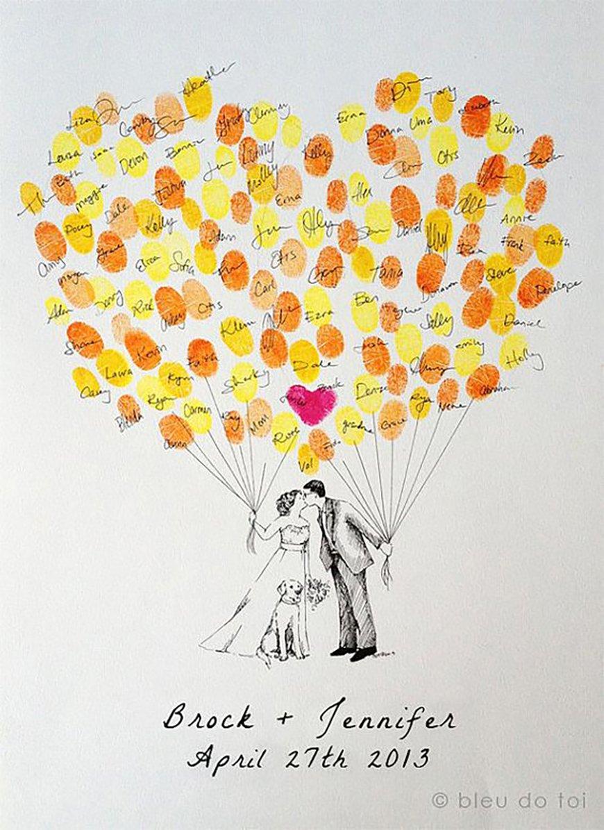 15 amazing wedding guest book ideas - Something krafty | CHWV
