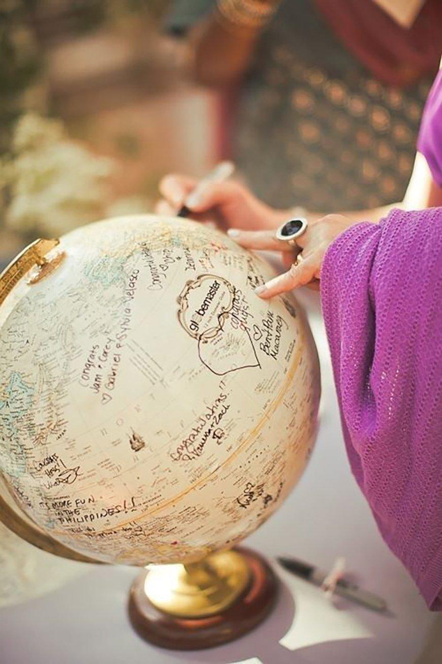 15 amazing wedding guest book ideas - Wanderlusters | CHWV