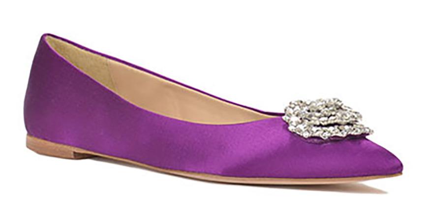 Wedding Ideas by Colour: Purple Wedding Shoes - Fashionable flats | CHWV