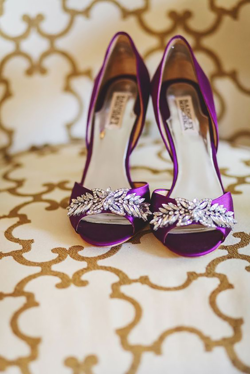 Wedding Ideas by Colour: Purple Wedding Shoes - A match with metallics | CHWV