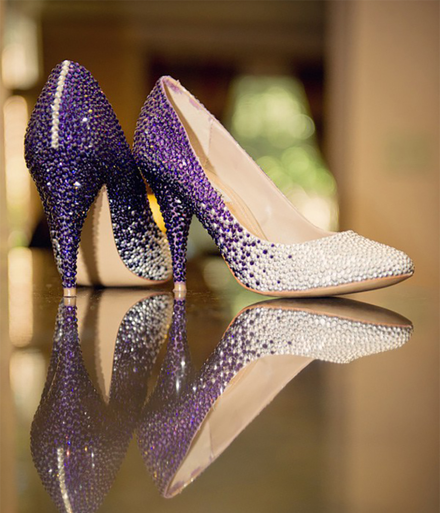 Wedding Ideas by Colour: Purple Wedding Shoes - All that glitters | CHWV
