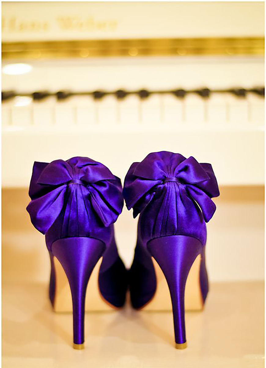 aa6a88f7bd3c Wedding Ideas by Colour  Purple Wedding Shoes - Beautiful bows