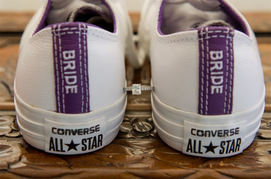 Wedding Ideas by Colour: Purple Wedding Shoes - Customise your converse | CHWV