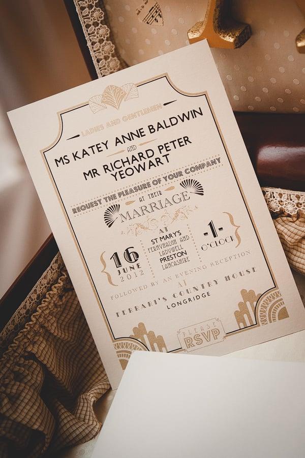 Wonderful Winter Wedding Invitations! - Glam gatsby | CHWV