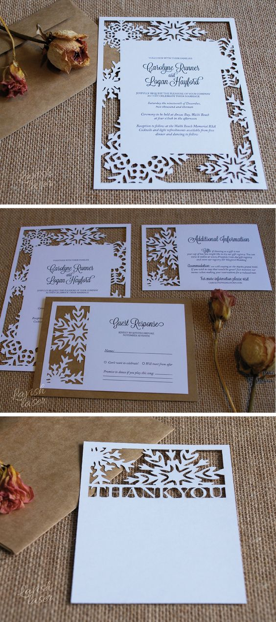 Wonderful Winter Wedding Invitations | CHWV