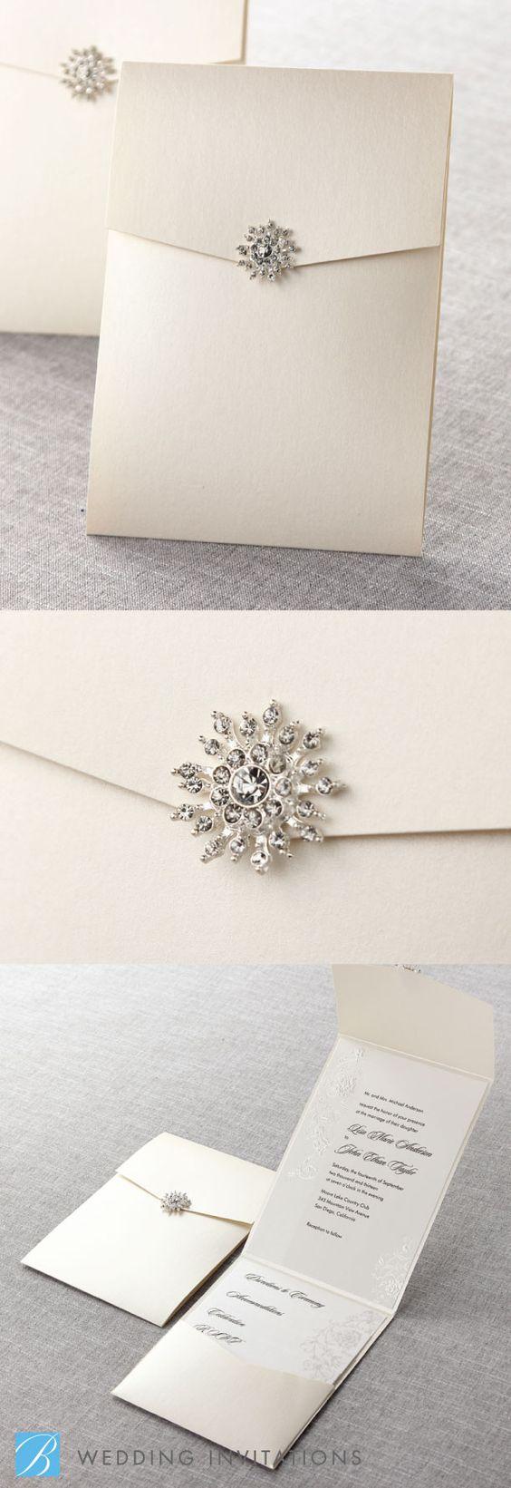 Wonderful Winter Wedding Invitations! - Pretty pearl | CHWV