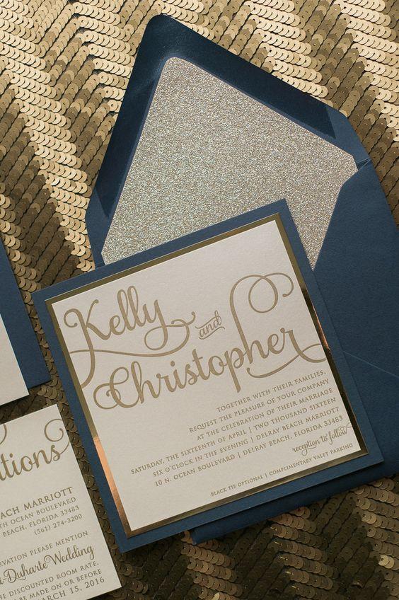 Wonderful Winter Wedding Invitations! - Silver sparkle | CHWV