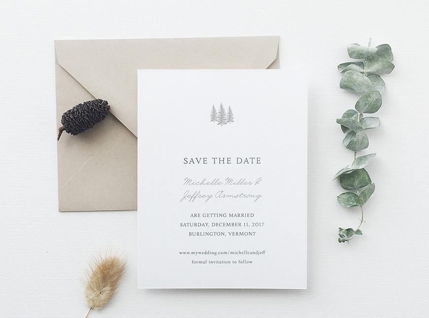 Wonderful Winter Wedding Invitations! - Simply chic | CHWV