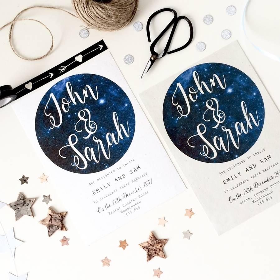 Wonderful Winter Wedding Invitations! - Starry eyed | CHWV