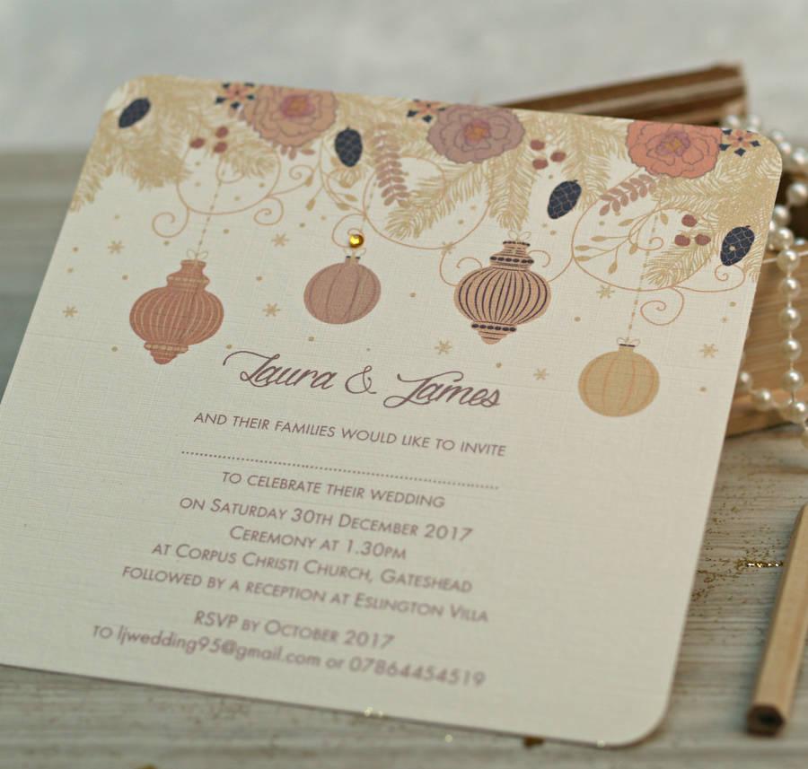 Wonderful Winter Wedding Invitations! - Vintage touch | CHWV