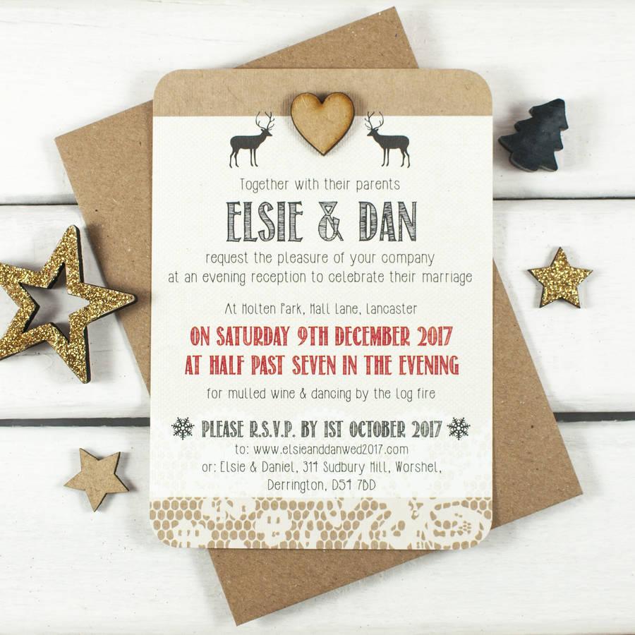 Wonderful Winter Wedding Invitations! - Winter woodland | CHWV