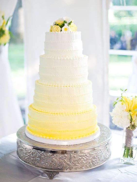 Yellow Wedding Cakes | Wedding Ideas | CHWV